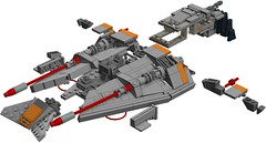 T-47 -- LXF (Brickdoctor) Tags: lego star wars t47 snowspeeder lxf ldd