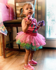 Izzy and her two  tutu. (Just Joe ( I'm back...sort of )) Tags: hss slidersunday birthday girl people colors pretty party tutu