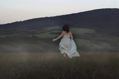 I run (misa.stahlova) Tags: 365 365project conceptual concept fineart canon 50mm outdoor selfportrait dress meadow running floatingdress portrait hills fog foggy mist mysterious mood female woman brownhair autumn lyrics idea