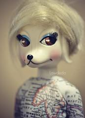 Doggone it, It's only Tuesday :/ (Lawdeda ) Tags: only tuesday twiggy my 1966 peteena dog doll picmonkey