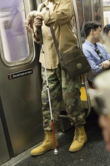 NYC - 2016 - Daily Sub (PicAxis) Tags: new york city ville subway man blind aveugle homme