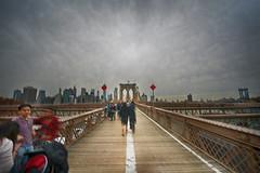 Brooklyn Bridge Walkers (juliekrugerart) Tags: trail girl julie kruger photography new york manhattan motion hustle bustle nikon d810 metropolitan museum brooklyn bridge grand central station taxis world trade center subway