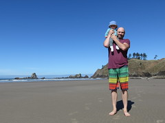 post swim hanging with jaco (carolyn_in_oregon) Tags: oregon pacificocean ecolastatepark coast crescentbeach al allie jacob