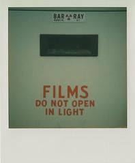 Films (DavidVonk) Tags: vintage instant film analog polaroid sx70 sonar impossibleproject darkroom xray radiographic radiology barray radioactive symbol cabinet light