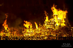 Up in flames (TimEaster) Tags: greatfire350 greatfireoflondon 1666 2016 london thames riverthames londonsburning stpaulscathedral fire orange