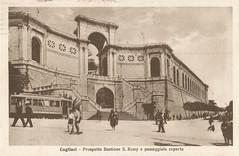 Cagliari_prospetto Bastione S. Remy e passeggiata coperta (paolocogoni) Tags: sardegna cagliari cartolina antica vintage sardinia remy bastione prospetto
