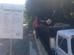 Arshiya emptying her classroom compost bin (greentufts) Tags: grafton composting