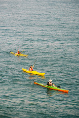 Kayaking (lorenzoviolone) Tags: d5200 dslr freetime fujiastia100f nikon nikond5200 people reflex seascape sport summer vsco vscofilm waves activity canoe canoes kayak kayaking leisureactivity navigating rowing sea strangers summerday summertime travel:malta=aug2016 valletta malta