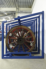 GMRC Wagon wheels (route9autos.co.uk) Tags: glasgow museum resource centre gmrc transport truck trams train model ship hull treasure albion caledonian railway display historic scotland nitshill collection