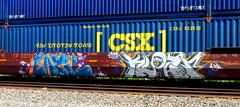 eazil - klozr LMK (timetomakethepasta) Tags: eazil klozr lmk doc freight train graffiti art intermodal csx cp canadian pacific