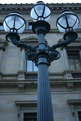Lamps at dawn (acreativeknack) Tags: melbourne lamp outdoorlight streetlight oldfashionedlamp australia