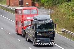 On Tow.... (stavioni) Tags: bristol on tow truck leyland red double decker bus m4 reading