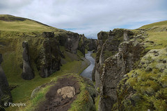 Fjadrarglijufur Canyon (Piperplex Photography) Tags: iceland landscape sony a6000 alpha carl zeiss ring road south coast trip fjadrarglijufur canyon route 1 river stream waterfall moss view height cliff 12mm valley gully edge dramatic