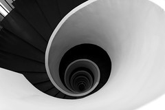 drill down (Greyframe) Tags: stair spiral peel drill down snail black white vertigo greyframe grey blackandwhite monochrome staircase schwarzweis bw abstract surreal