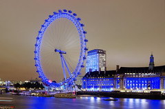 Blue London Eye... (german_long) Tags: uk longexposure inglaterra england london thames night europa europe nightshot londoneye londres 1001nights tmesis reinounido