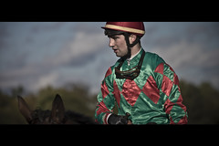Just a Jockey (Matthieu Lepoint photo) Tags: horse paris france race cheval course jockey chevaux steeplechase hippodrome auteuil monter