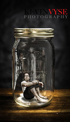Kevin in a Bottle (Kevin Vyse Photography) Tags: lighting original portrait selfportrait ontario canada man male guy me glass photography trapped interesting kevin looking image drink unique small captured creative human jar intriguing inside editing woodstock specimen 2012 kvphotography