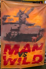 Man vs wild (Val in Sydney) Tags: wild sculpture man art beach tank sydney australia tent nsw rod vs sculpturebythesea mcrae wonders 2012 the tamarama sxsbondi