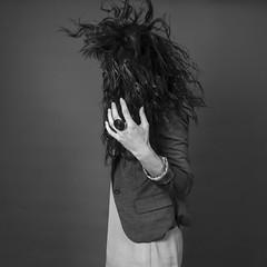 (matthieu borrego) Tags: portrait blackandwhite bw woman art strange fashion hair studio noiretblanc femme nb mode fille mouvement carré yougwoman
