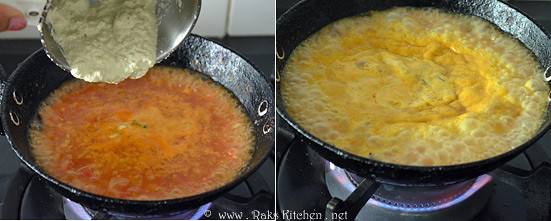 step 4 cook tomato kurma