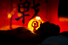 "Day 362 / 365 ""Tokyo Bloodshed"" (Roberuto - ) Tags: selfportrait japan night self movie hotel tokyo blood nikon shed katana yakuza 50mmf14 tokio d7000 roberuto"
