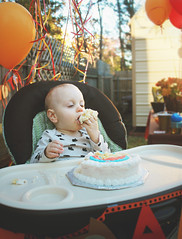 1st Birthday Cake (Maddie Laire) Tags: baby fall cake balloons