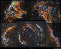 Veil Nebula collection (J-P Metsavainio) Tags: stars colorful space nebula astronomy vei diffuse emission cygnus starfield nebulae snr ic1340 supernovaremnant