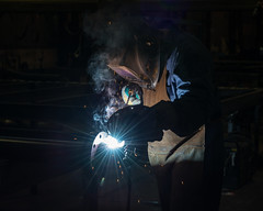 Welding in the Shop (Gregory Pleau) Tags: industry work welding pipe worker welder vipond fireprotection