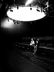 Sidekicks (Yves Roy) Tags: street city shadow urban blackandwhite bw black contrast dark austria blackwhite raw moody darkness noiretblanc 28mm festspielhaus bregenz snap gloom yr fav10 ricohgrd blackwhitephotos bregenzerfestspiele grdiii yvesroy yrphotography