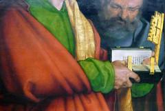 Dürer, The Four Apostles, detail with Bible and key