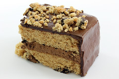Chocolate Chunk Yellow Cake with Chocolate Frosting (donmarvin) Tags: food brown black macro cake closeup dessert dish sweet chocolate cream cook sugar gourmet delicious whitebackground eat slice bakery vegetarian pastry icing vanilla custard treat bake isolated baked mousse chocolatechip chocolatecake frosted fattening yellowcake chocolateicing chocolatefrosting chocolatechunk chocolatecream sliceofcake cakecrumb