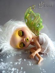 "Ooak cutom SBL Blythe ""Snow Fairy"""