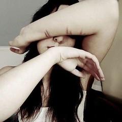Portrait of the artist. (Lily Zaslavski) Tags: selfportrait broken girl dark children death child knife abuse darkphotography selfmutilation selfharm secretparadisiac