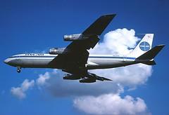 N424PA PanAm 707-321B landing at KCLE (GeorgeM757) Tags: boeing 707 panam 19277 kcle 707321b n424pa