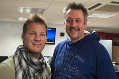 Chris Jericho and Richard Allan (Richard Amor Allan) Tags: news staffordshireuniversity interview fozzy chrisjericho y2j richardallan