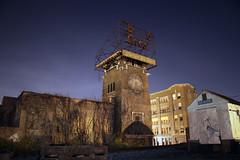 Bond Bread (Whiteside Bakery), Louisville (deatonstreet) Tags: building tower abandoned sign architecture night bread ruins kentucky historic bakery bond louisville arthurloomis