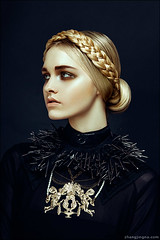 Harper's Bazaar Vietnam Dec 12 (zemotion) Tags: portrait fashion hair gold kendra braid harpersbazaar zemotion zhangjingna