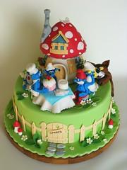 Smurfs cake (bubolinkata) Tags: cake smurfs