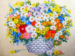 Springtime Bouquet (Toby Garden) Tags: work needlework embroidery needle bouquet springtime crewel