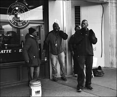 4 (Trevor Ducken) Tags: seattle november people blackandwhite bw men film mediumformat person washington pentax kodak trix streetphotography singers wa pikeplacemarket 6x7 2012 pentax6x7