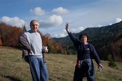 Hikers (Paul Patras) Tags: family autumn hiking sunny hills bistritanasaud cuşma flickr12days