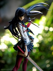 Samurai (Katanako) (MastraCustom) Tags: student mechanical longhair warrior samurai katana sexypose schooluniform angryface sexybody slimbody katanako