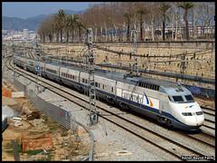 Euromed per la Sagrera (Xavier Bayod Farr) Tags: barcelona railroad geotagged tren eisenbahn railway zug 101 xavier ferrocarril renfe sagrera ffcc xbf euromed bayod farr xavierbayod xavierbayodfarr