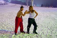 Hardcore winter portrait at Hyundai Sungwoo Resort, South Korea (UweBKK (α 77 on )) Tags: winter girls portrait people woman mountain snow man ski men ice girl fashion sport fun outfit women sony south korea resort alpha dslr hyundai 550 wonju thegalaxy gangwon sungwoo