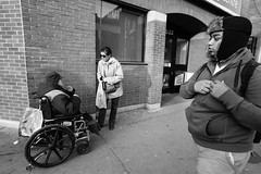 Bloor St. W, Toronto (Dan Goorevitch (busy)) Tags: wheelchair help kindness drama bathurst bloor amputee legless ©dangoorevitch