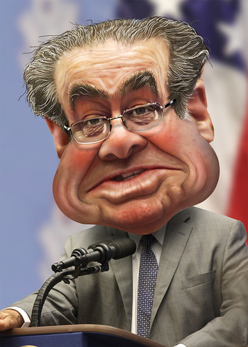 Caricature - Antonin Scalia
