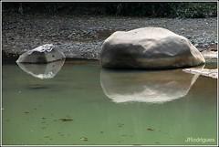 (JRodrigues.) Tags: water reflections river indonesia southeastasia stones westjava reflexions jawa 2011 img0851 kampungnaga