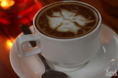 Hot Cappuccino (Jareeeeek) Tags: hot coffee indonesia yummy drink delicious fancy bandung cappuccino beverages latteart foodphotography
