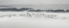 winter attack in slovenia (mariusz kluzniak) Tags: winter white snow church fog lens europe view angle sony wide sigma super east slovenia block alpha 1020mm eastern 77 slt a77 the4elements yown