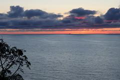 jastrzebia gora cloudy sunset (kexi) Tags: jastrzebiagora balticsea baltic sea water calm horizon clouds sunset poland polska polen pologne polonia canon june 2015 evening tree blue orange dissymmetry instantfave